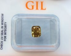 1.01 ct - Natural Diamond - N. Fancy Vivid Orangy Yellow, SI-2 -  *NO RESERVE*