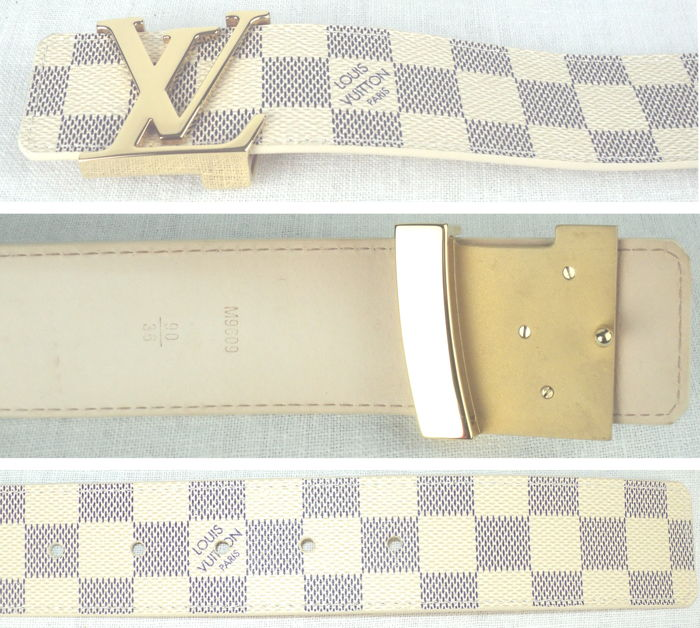bd1cf1ef5897 Louis Vuitton - Damier Azur Belt - Catawiki
