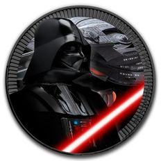Niue - 2 Dollars 2017 'Star Wars / Darth Vader' black ruthenium with colour - 1 oz silver
