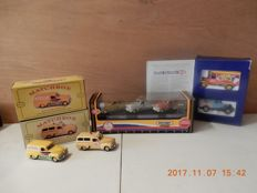 Matchbox Models of Yesteryear 1996 - 2001 - Scale 1/43 - Lot with 7 models - YYM 38047 - YHN 01 /SB - YHN 01 /SC - YCH 02/1 - YCH 02/2 - Matchbox Collectors set Ronald McDonald 1996