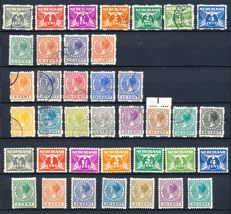 The Netherlands 1928/1930 - Two series syncopated perforation - NVPH R33/R56 + R57/R70