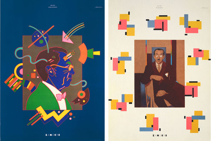 Milton Glaser (1929) - Tributes to Wassily Kandinsky and Piet Mondrian