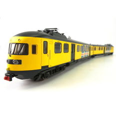 Rivarossi H0 - HR2361R - Two-piece electric train set Mat.'46 of the NS in yellow colour scheme with advertising strips and vignette