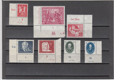 GDR of East Germany - batch of corner edge pieces, early years