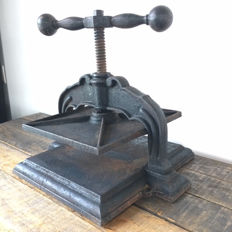 "Large old book press, ""Alexanderwerk"", Germany, late 19th century"