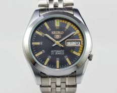 Seiko 5 - Skeleton/Transparent Back - Men's wristwatch - circa 1990s