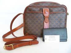 Lot of 2: Louis Vuitton keyholder & Céline cross-body shoulder bag -*No Minimum Price*