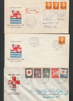 The Netherlands - collection of FDCs and 6 classic folding letters
