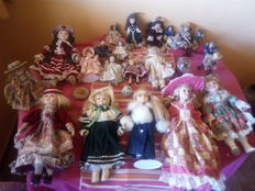 23 porcelain dolls