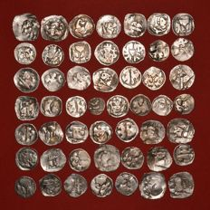 Holy Roman Empire - Lot of 50 Medieval Silver Wiener Pfennig