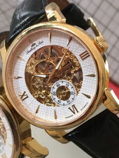 """Lindberg & Sons  """"Diamond  Skeleton"""" Limited Edition (250/1000) - used, in mint condition - Men's wristwatch."""