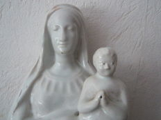Madonna of white faience