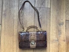Crocodile leather women's bag