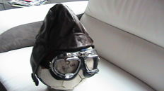Leather cap and matching sunglasses - pilot roadster -  size M