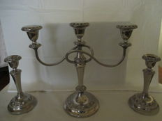 Beautiful High Silver plated Candelabra with two Silver plated matching candle stands (Lanthe)