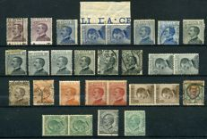 Italy, Kingdom, 1901/1930 – Set of varieties and offsets