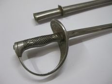 Spanish Sword Puerto Seguro Model 1909 for Cavalry Officer Version to Scale in Miniature.
