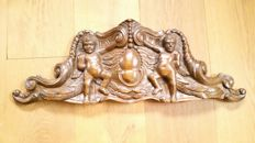 Baroque - Oak ornament of angels - France - early 20th century