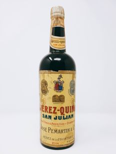 NV José Pemartín Jerez Quina San Julián (back label refers to 1911)
