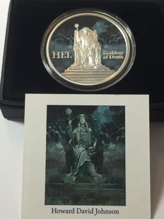 United States – medal 'Norse Gods / Goddess of Death - Hel' in colour – 1 oz silver
