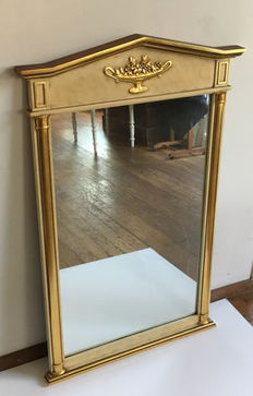 Empire style Belgian gold-plated mirror, mid 20th century