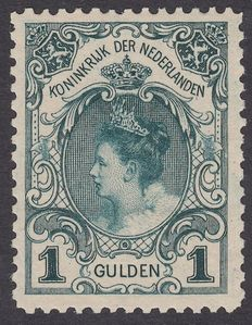 The Netherlands 1898 - Inauguration Queen Wilhelmina - NVPH 49, with inspection certificate