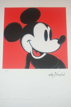 Mickey Mouse Lithograph By Andy Warhol (after)