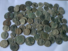 Roman Empire, lot of 84 Roman coins to be cleaned