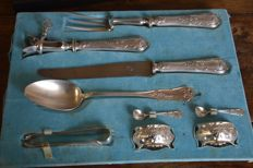 Complete 81 piece silver plated table cutlery - A. Boulanger - Paris - 1913