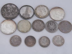 Germany - 13 coins 1876-1937