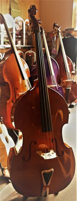New Double Bass 4/4 with cover, rosin and bow