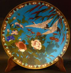 Cloisonne plate - Japan - Late 19th/early 20th century (Meiji period)