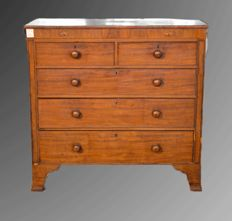 Georgian Chest of Drawers in inlaid mahogany wood - England - ca. 1830