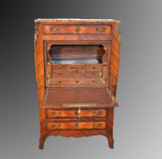 Bois de rose and rosewood secretaire - Napoleon III - France - 1890