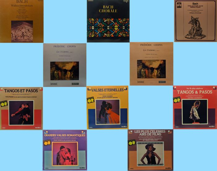 Lot of 10x Classic Vinyl LPs - Original albums from the 60s / 70s & 80s