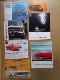 OPEL Kadett coupe and rallye - lot of 7 brochures