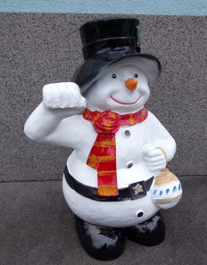 Large snowman with Christmas ball 70 cm