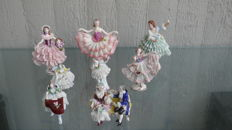 Porcelain Figurines, 8 Different Manufacturers
