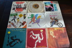 35 Rocksingles from the 70's and 80's, all records are in NM quality
