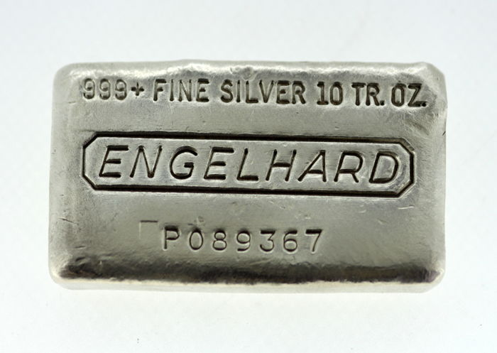 Engelhard 999 Fine Silver Bar Of 10 Troy Ounces 311