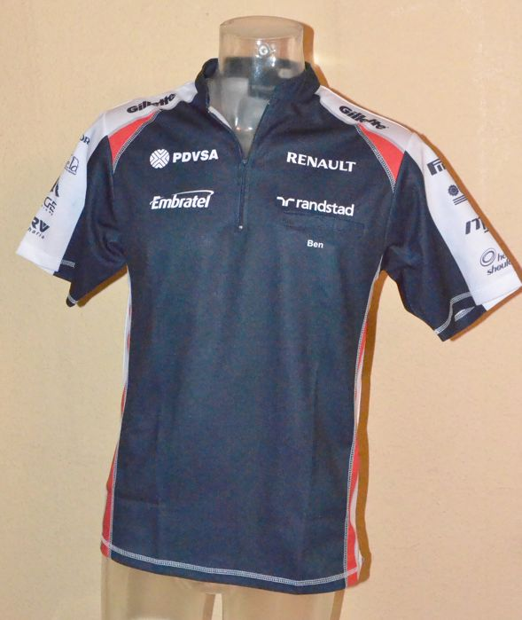 "Williams F1 Team / Driver Shirt ""Ben"" by McGregor > Team Only !"