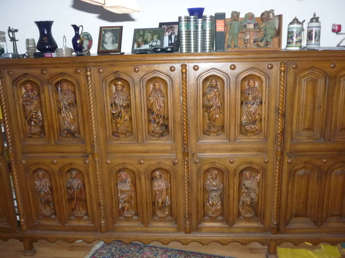 12 apostles cabinet replica wood sculptor Lorenz Luchsberger - first half of the 20th century
