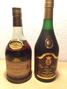 Two bottles of Salignac Cognac Napoleon (1970s) & Roy de Prusse (1980s)