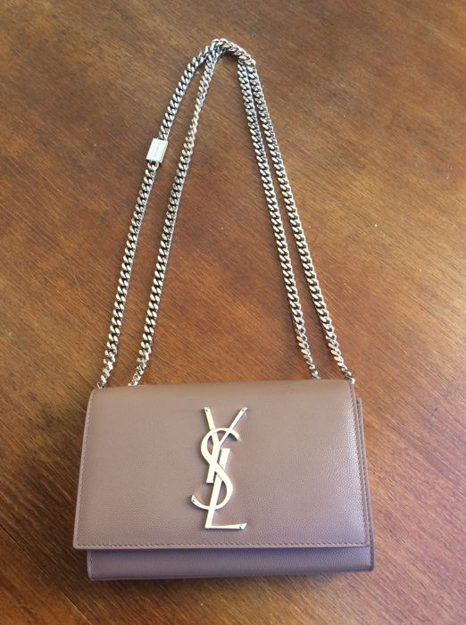 dc287f46eb9a Yves Saint Laurent - YSL Monograme Small Kate Chain Bag Shoulder ...