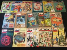 Hergé - 16x Journal Tintin - Hergé covers - 16x sc - 1st edition (1950-1959)