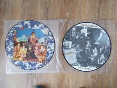 The Rolling Stones Lot Of 2 Lp Picture Disque : Their Satanic Majesties Requiest , Limited Edition 300 Copies And Lp Picture Live At The Anglewood Forum Los Angeles