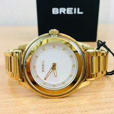 BREIL – Unisex Gold Plated Watch With Swarovski Elements