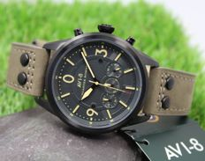 AVI-8 - Men's Lancaster Bomber  - Chronograph Watch - New & Perfect Condition