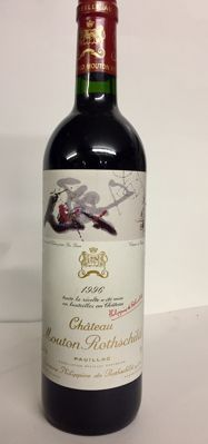 1996 Chateau Mouton Rothschild First Growth wine, Pauillac - 1 bottle (75cl)