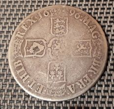 United Kingdom - Crown 1696 William III (Octavo) - silver